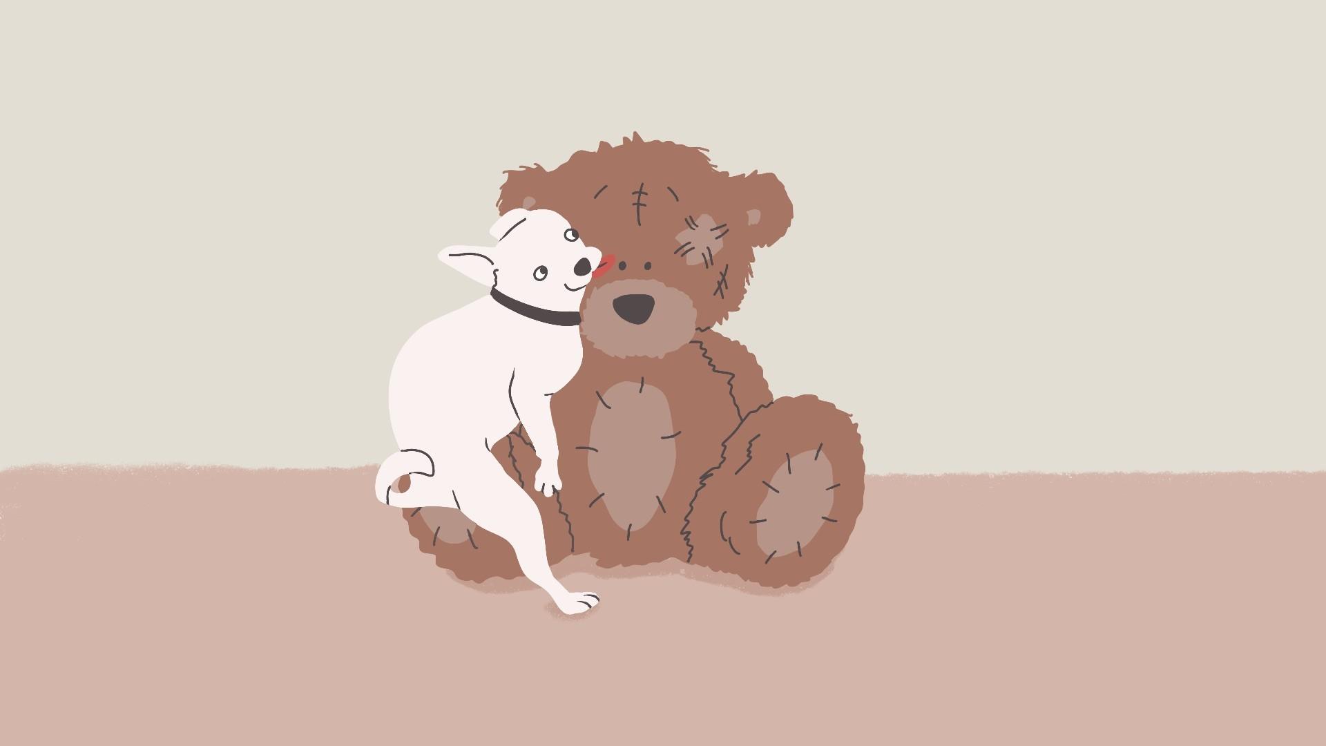 Waarom rijden honden op knuffels of andere objecten